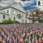 """Field of Flags""- Litchfield County CT Church"