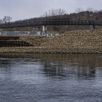 Footbridge along the Housatonic River adjacent to Derby, CT