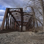 Railroad trestle in Derby, CT 1/4 mile east of the Derby-Shelton Bridge.