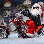 Motorcycle riding Santa!