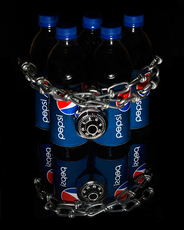 Pepsi – chained up.