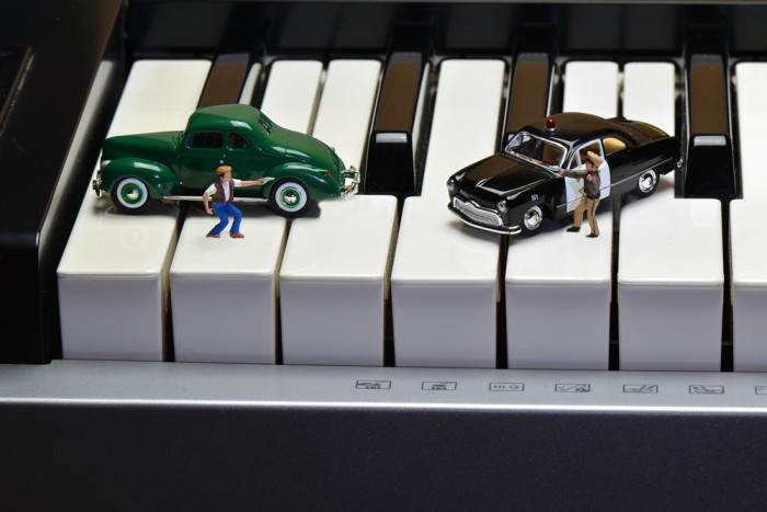 Miniature Figurine Photography – Cops & Robbers